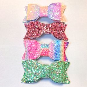 3/$20 Set of 4 Glitter Bow Hair Clips NEW